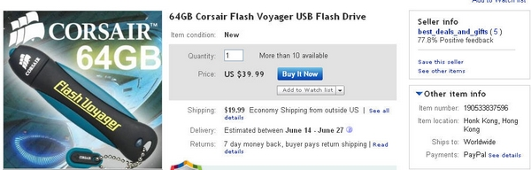 best deals and gifts 64GB Corsair Flash Voyager USB Flash Drive