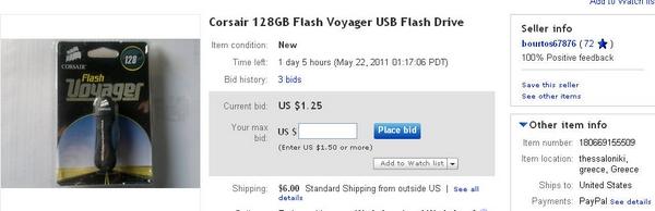 bourtos67876 Corsair 128GB Flash Voyager USB Flash Drive