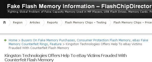 Kingston Help Fake DT310 DataTraveler
