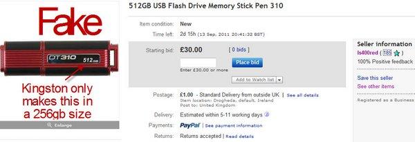 DT310 eBay 512GB Listing