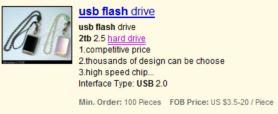 2TB USB Flash Drive Pen Stick